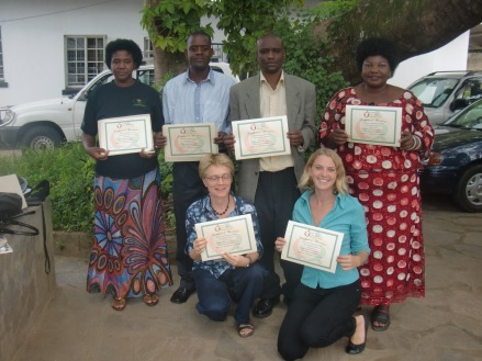 CBNRM Forum members were awarded their certificates after being sponsored to attend the Proposal Writing and Fundraising Techniques Training Course at Tsopano Center in February 2013.